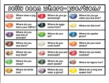 Jelly Bean Language Activities - Wh-questions, inferencing, social skills & more
