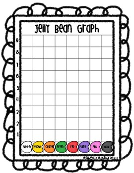 Jelly Bean Math Activity Pack - Measurement, Graphing, Sorting - Color & B/W