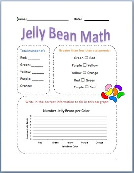 Jelly Bean Math - Easter Themed Math Worksheet