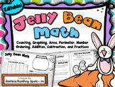 Jelly Bean Math --- Graphing, Area, Perimeter, Number Ordering, Fractions