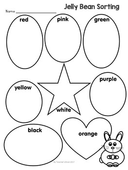 Jelly Bean Math Sort and Writing EASTER & SPRING Activities