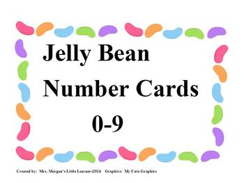Jelly Bean Number Cards 0-9