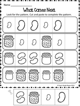Patterns: Jelly Bean Patterns Worksheets
