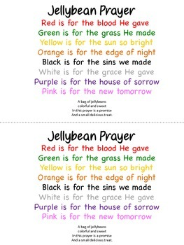 image relating to Jelly Bean Prayer Printable referred to as Jelly Bean Prayer