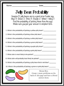 Jelly Bean Probability