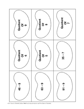 Jelly Bean Quotients: Division Sorting Activity & Practice Page
