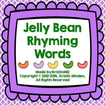 Jelly Bean Rhyming Words