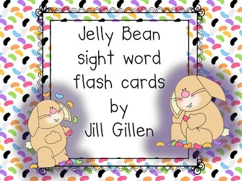 Jelly Bean Sight Word Flashcards