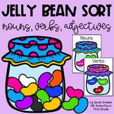 Jelly Bean Sort {nouns, verbs, adjectives} Freebie!