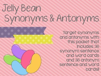 Jelly Bean Synonyms and Antonyms
