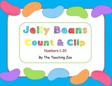 Jelly Beans Count & Clip 1- 20 Task Cards
