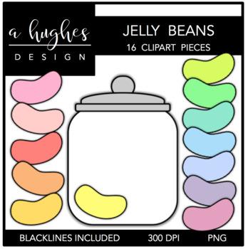 Jelly Beans Clipart {A Hughes Design}