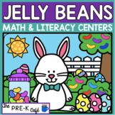 Jelly Beans Math and Literacy Centers | 5 activities numbe