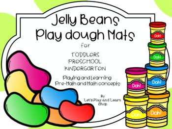 Jelly Beans Play Dough Mats Pre-Math & Math (Toddlers & Preschool)