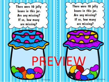 Jelly Beans in a Jar ~ Missing Addend, What makes 10?