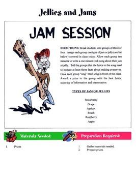 Jelly & Jams Game / Activity