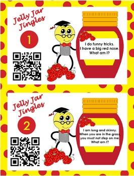Jelly Jar Jingles Center (QR Codes or Answer Cards for Drawing Conclusions)