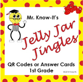 Jelly Jar Jingles Center (QR Codes or Answer Cards for Dra