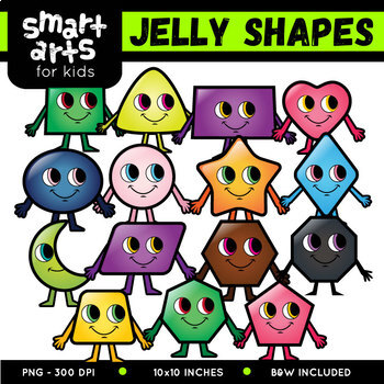 Math 2D Jelly Shapes Clip Art