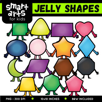 2D Jelly Shapes Clipart