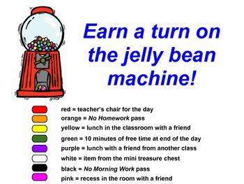 Jelly bean machine -- reward incentives for behavior