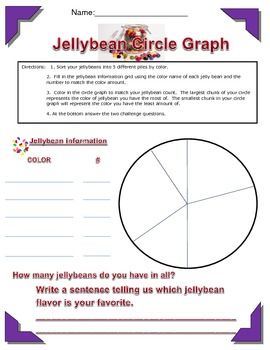 Jellybean Activities-Circle Graph, Creative Writing, Position Words, and More