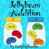 Jellybean Addition Math Center for Easter and Spring