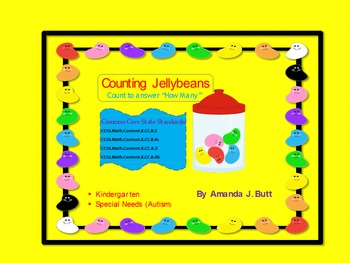 Jellybean Counting 1-20 Special Education; Autism; Kindergarten; First Grade