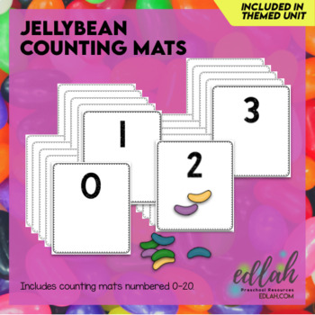 Jellybean Counting Cards (0-20) - Distance Learning