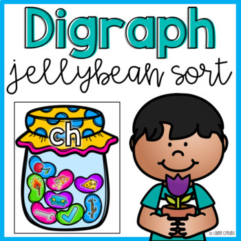 Jellybean Candy Digraph Sorting Activity {Freebie}