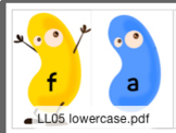 Jellybean Flashcard Game Uppercase Lowercase Letters