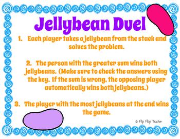 Jellybean & Marshmallow Peep Math Games: Multiplication, 3 Digit Add, Geometry