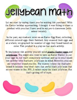 Jellybean Math: A Graphing Activity for 1st Grade