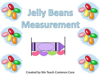 Jellybean Measuring Math Station Easter Themed Fun with Math