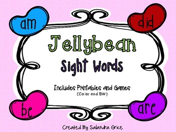 Jellybean Sight Word Match