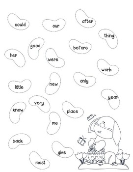 Jellybean Sight Words & Numbers