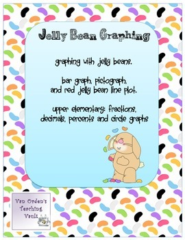 Jellybean graphing   Common Core Fun for  Easter or Spring Math