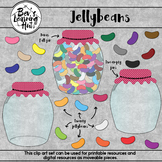 Jellybeans Clip Art Set for printable and digital resources
