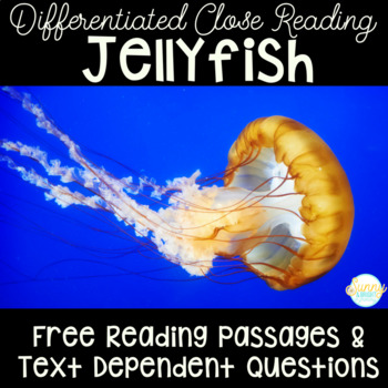 Jellyfish Freebie | Differentiated Texts | Nonfiction Close Reading Mini Unit