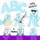 Jellyfish Clip Art with Signs - Letter J in Alphabet Animal Series