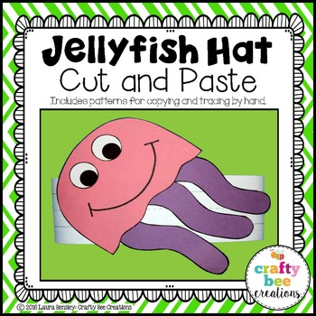 Jellyfish Hat Cut and Paste