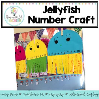 Jellyfish Number Craft Number 1-10