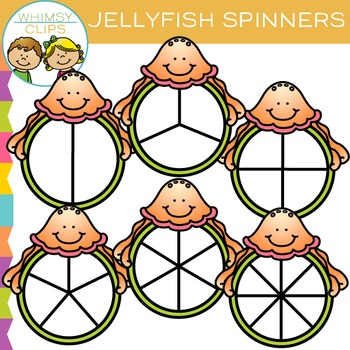 Jellyfish Spinners Clip Art