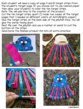 Jellyfish Summer Speech Craft (articulation language) Craftivity