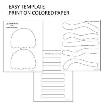 Ocean animal craft - Jellyfish craft - Summer craft