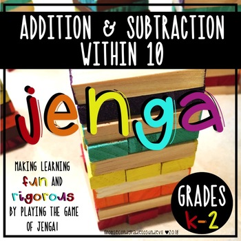 Jenga - Addition and Subtraction Within 10