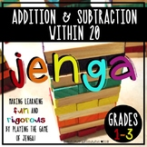 Jenga - Addition and Subtraction Within 20