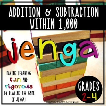 Jenga - Addition and Subtraction within 1,000