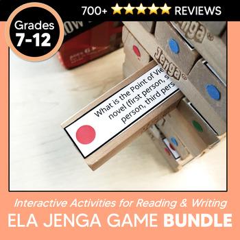 Jenga Bundle: Literary Jenga, Informational Text Jenga, &