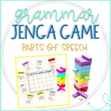 Parts of Speech Jenga Game for Nouns, Verbs, and Adjectives